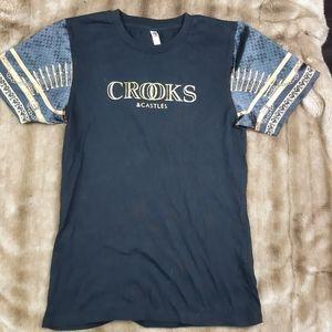 Crooks and castles tshirt unisex bullets hip hop